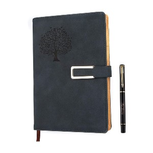 Fanery Sue Tree of Life Refillable Writing Journal - Best Notebooks for College: Strong Binding, Pages Will Not Fall