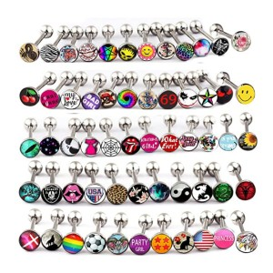 Fanpei Logo Barbell Bars - Best Jewelry for Tongue Piercing: A whopping 100 pieces