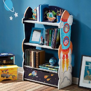 Fantasy Fields Kids Bookshelf with Hand Crafted Designs - Best Bookshelves for Toddlers: Galactic Bookcase