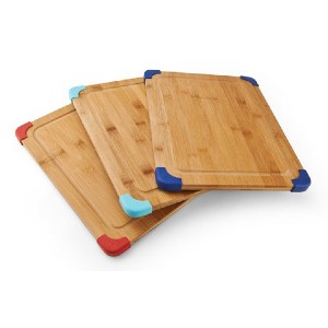 Farberware Thick Nonslip Bamboo Cutting Board - Best Cutting Boards for Chicken: Nonslip corners for stability