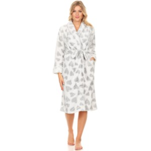 Fashion Brands Group Women Spa Robe  - Best Robes for Hot Tub: Love Pattern Robe