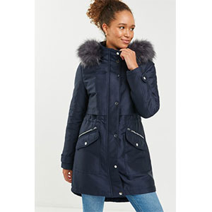 Next Faux Fur Hooded Parka - Best Raincoats for Petites: Warm and Fuzzy Hood