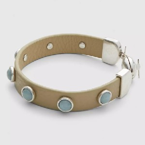 Lane Bryant Faux-Leather & Stone Bracelet - Best Jewelry for Plus Size: Unique in simplicity