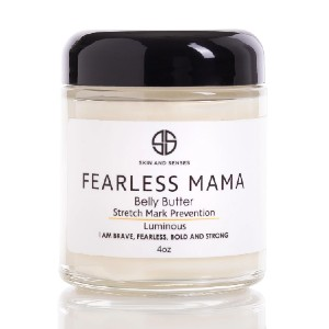 Skin and Senses Fearless MaMa Belly Butter - Best Stretch Mark Cream: Aid in the Rebound of Your Body