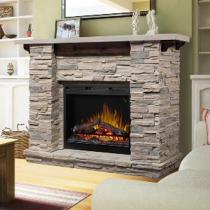 DIMPLEX Featherston Electric Fireplace Mantel Package - Best Electric Fireplace with Mantel: High-quality flame effects