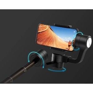 Feiyu Tech Vimble 2S Brushless Telescopic Handheld Smartphone Gimbal - Best Camera Stabilizers for Smartphone: Stabilizer with 360° Rotation Feature