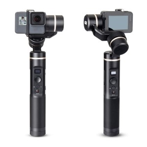 Feiyu Tech G6 3-Axis Splash Proof Handheld Gimbal - Best Camera Stabilizers for GoPro: 360 Degrees Angle