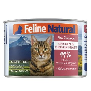 Feline Natural Chicken & Venison Feast Grain-Free Canned Cat Food - Best Food for Hyperthyroid Cat: Breed-Specific Ingredients
