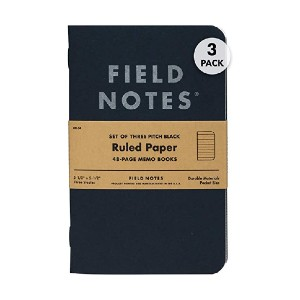 Field Notes Pitch Black Memo Books - Best Notebook for Fountain Pens: Best for on the go