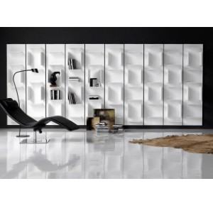 Luigi Trenti Fifty Modular Bookcase - Best Bookshelves for Home Library: Horizontal and Vertical Dividers