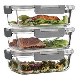 Finedine Superior Glass Meal Prep Containers - Best Food Storage Container: Superior container