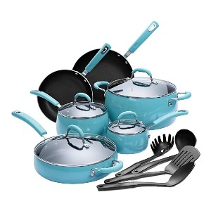 Finnhomy Cookware Set - Best Porcelain Pots and Pans: Non-stick cooking