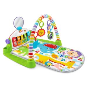 Fisher-Price Deluxe Kick 'n Play Piano Gym - Best Playmat for Newborn: Piano with real music notes