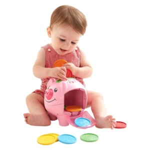 Fisher-Price Laugh & Learn Smart Stages Piggy Bank - Best Educational Toys for 1-2 Year Olds: Sing-along songs, tunes & phrases