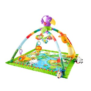 Fisher-Price Rainforest Music & Lights Deluxe Gym - Best Playmat for Tummy Time: Fun take-along toucan