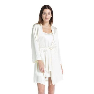 Fishers Finery Women's 100% Pure Mulberry Silk Mid-Length Robe - Best Silk Sleepwear: Hard-wearing silk