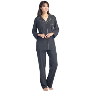 Fishers Finery Women's Ecofabric Full Length Pajama Set - Best Sleepwear for Menopause: Keeps you cool and warm at the same time
