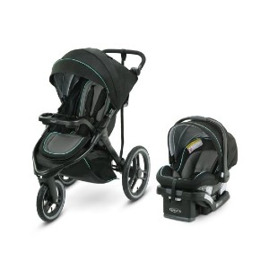 Graco FitFold - Best Stroller Jogger Travel Systems: Rear Wheel Suspension