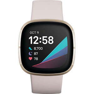 Fitbit  Sense Advanced Health & Fitness Smartwatch - Best Fitness Trackers: On-wrist Skin Temperature Sensor