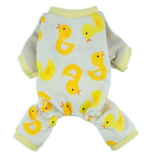 Fitwarm Cute Duck Dog Pajamas - Best Clothes for Dogs: Curls up in comfort