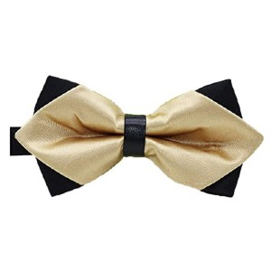 Flairs New York Gentleman's Diamond Pointed Bow Tie - Best Bow Ties for Tuxedo: Over 40 colors!
