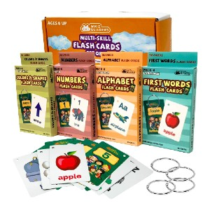WhizBuilders Flash Cards Toddlers Kids - Best Flashcards for 2 Year Olds: Multi-skill set