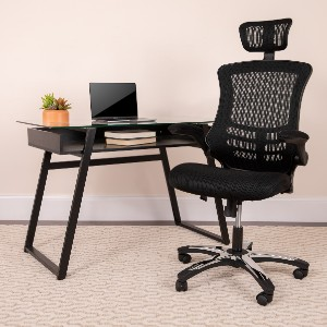 Flash Furniture High-Back Black Mesh Executive Swivel Office Chair  - Best Office Chair with Headrest: Great Features