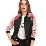 10 Recommendations: Best Jacket for Summer (Oct  2020): Bomber jacket with embroidery floral and bird