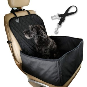 Flow.month Pet Front Seat Cover Pet Booster Seat - Best Dog Car Front Seat Covers: Car Seat Cover and Kennel