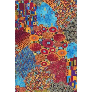 Peaceful Wooden Puzzles Flower Garden Abstract by Gustav Klimt - Best Wooden Jigsaw Puzzles for Adults: Cutting Grids Include Whimsy's