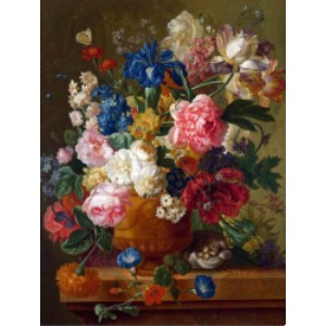 My Paint by Numbers Flowers in a Vase - Paulus Theodorus - Best Paint by Number Kits for Adults: Flowery Painting for Sleek Touch in You Dining Hall