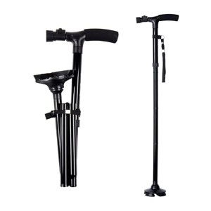 Ohuhu Folding Walking Cane - Best Cane for Seniors: No more tripping in the dark