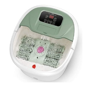 Turejo Foot Spa Massager  - Best Foot Spa with Pumice Stone: Auto-rotating pedicure stone