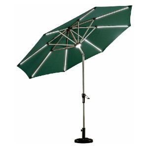Arlmont & Co. Fortside 9' Market Umbrella - Best Patio Umbrellas with Lights: Anti-oxidation spray painted