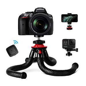 Fotopro Flexible Camera Tripod with Bluetooth - Best Mini Tripods for Smartphone: Super strong grip