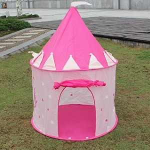 FoxPrint Princess Castle Glow in the Dark Foldable Pop Up Play Tent - Best Tents for Kids: Magical Cave Tent