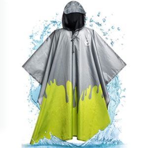 Foxelli Reusable Rain Gear - Best Raincoats for Festivals: Lightweight Raincoat