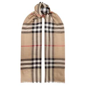Burberry Frayed checked wool and silk-blend scarf - Best Scarves for Winter: Never go out of style