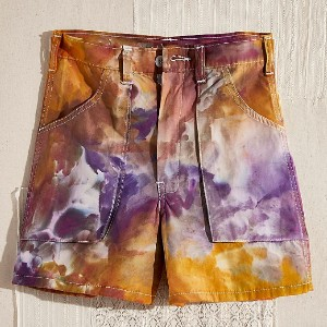 Free People Tie Dye Camp Shorts - Best Shorts for Big Thighs: Retro High Waist Design
