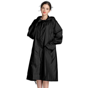Freesmily Women Long Raincoat  - Best Raincoats for College Students: Long Body Thick Material