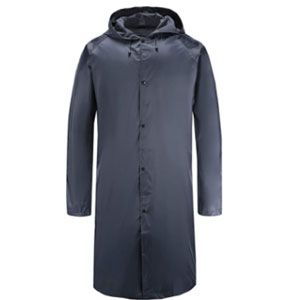 Freesmily Mens Long Raincoat Waterproof  - Best Raincoat for Boating: Raincoat with Thick Material