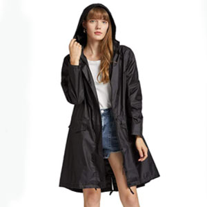 Freesmily Long Raincoat Waterproof  - Best Raincoats for Work: Quick to clean and dry raincoat