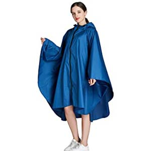 Freesmily Women's Stylish Rain Poncho - Best Raincoats with a Suit: Simple and handy