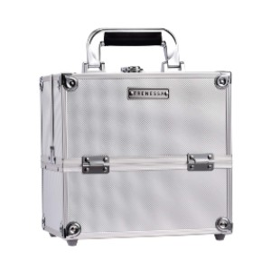 Frenessa Professional Makeup Train Case - Best Makeup Case Organizer: Flexible to Fit in Various Size