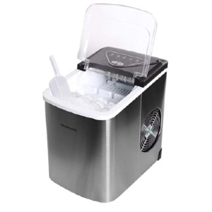 Frigidaire Stainless Steel 26 Lbs Counter Top Ice Maker - Best Portable Ice Maker: Ice Maker with Two Different Size