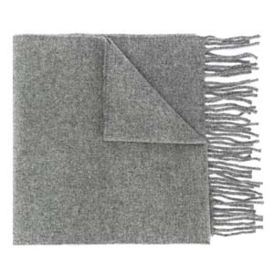 Mulberry Fringed edge scarf - Best Scarves for Winter: Super warm in grey