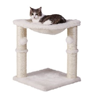 Frisco 20-in Faux Fur Cat Tree - Best Cat Tree for Apartment: Small and Simple Cat Tree
