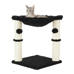Frisco 20-in Faux Fur Cat Tree - Best Cat Beds for Kittens: Mini playground