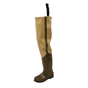 FROGG TOGGS Bull Frogg 3-ply PVC Canvas Hip Wader - Best Hip Waders for Fishing: Ensuring a snug fit