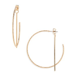 PANACEA Front/Back Hoop Earrings - Best Jewelry for Off the Shoulder Dress: They won't go unnoticed